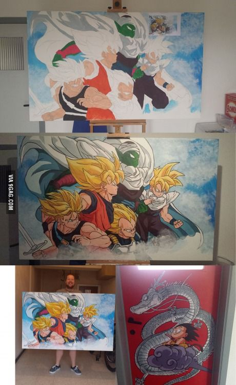 To the person with the kid's drawing of Goku that took her 4 episodes... This took me 12 hours but was worth it!