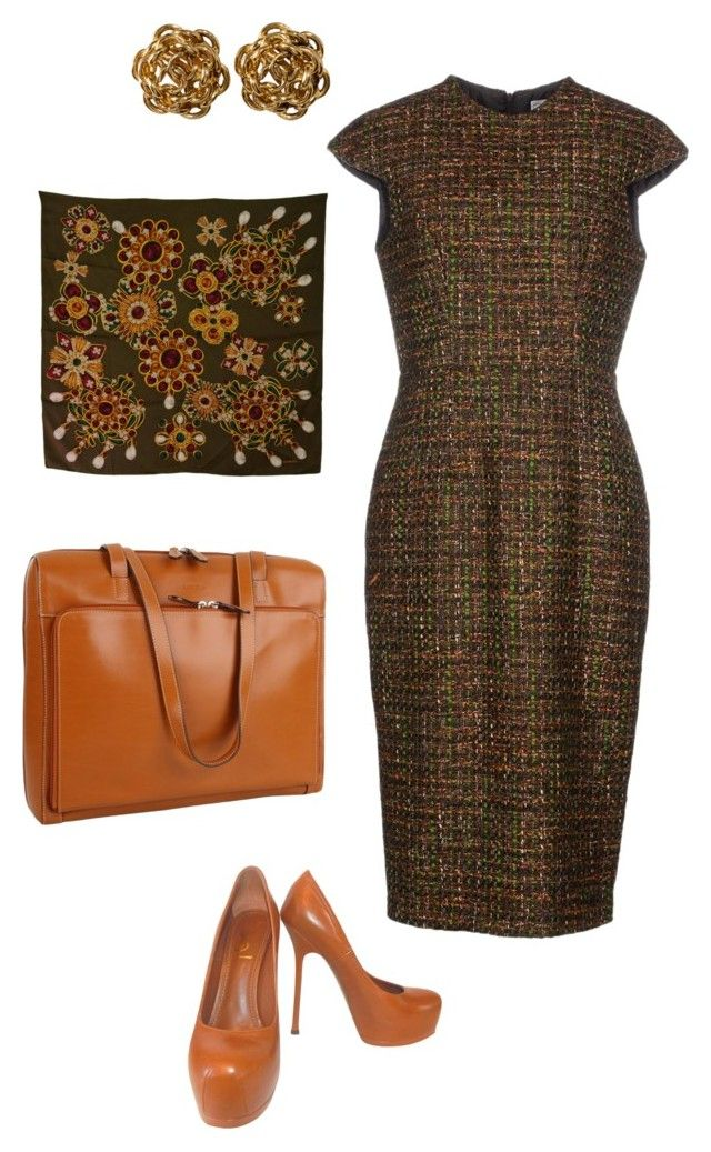 """""""Back to work, Autumn"""" by alisonstylecoaching on Polyvore featuring Stella Jean, Yves Saint Laurent, Lodis and Chanel"""