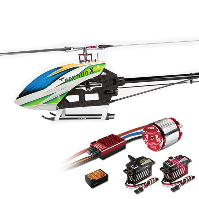 $1.010 Amazing T-REX 500X Helicopter Dominator Super Combo