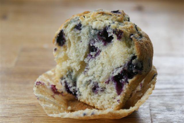 Muffins à la myrtille comme aux USA
