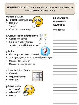 Le Weekend - Speaking Activity - Action Oriented Task Key words: french, français, hobbies, weekend, pastimes, passe temps, speaking activity, action oriented task, giving opinions, giving suggestions, making plans, setting a date, time, calendar, speaking strategies, activités, activities.