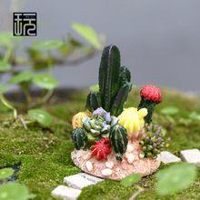 Enfeites de Resina Artesanato Fada Suculentas Jardim Ornamental simulação Miniaturas Terrário DIY Figuras Micro Paisagem Decoração(China (Mainland))