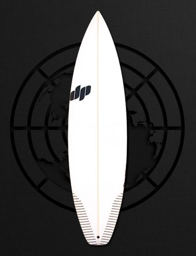 The Rover by DP Surfboards. We're always searching for a board that we can take anywhere and surf in any conditions, the perfect all rounder.  This is our interpretation of the Global Rover.  This modern shortboard design hides a little more foam than meets the eye and combines this with a touch more area through the nose to get you out of trouble on those smaller days.