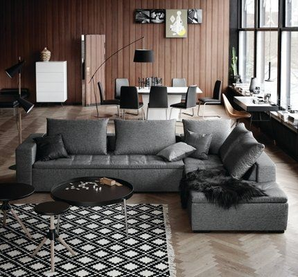 mezzo sofa available in fabric and leather http www. Black Bedroom Furniture Sets. Home Design Ideas