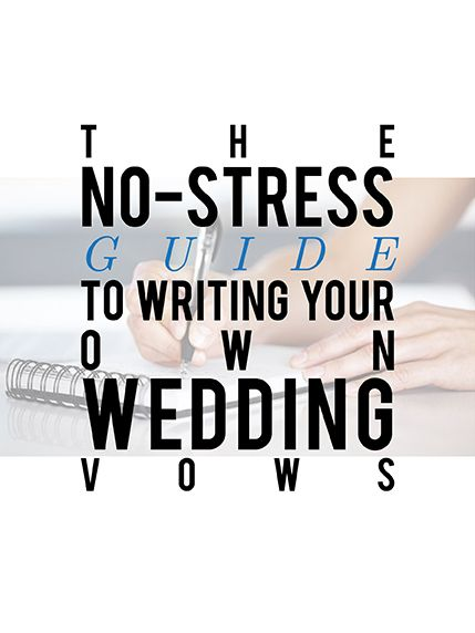 Writing vows is easy with this guide...