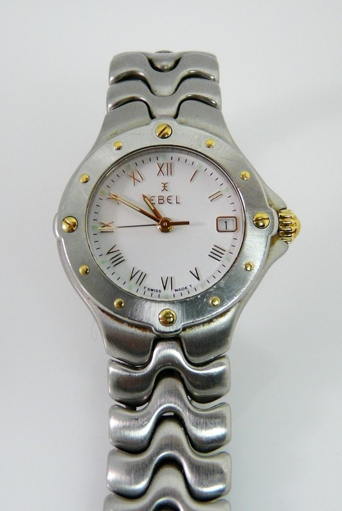 EBEL SPORTWAVE LADIES WATCH E6087621 18K & STAINLESS WHITE DIAL in Wristwatches | eBay