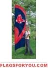 Red Sox Tall Team Flag 8.5' x 2.5'