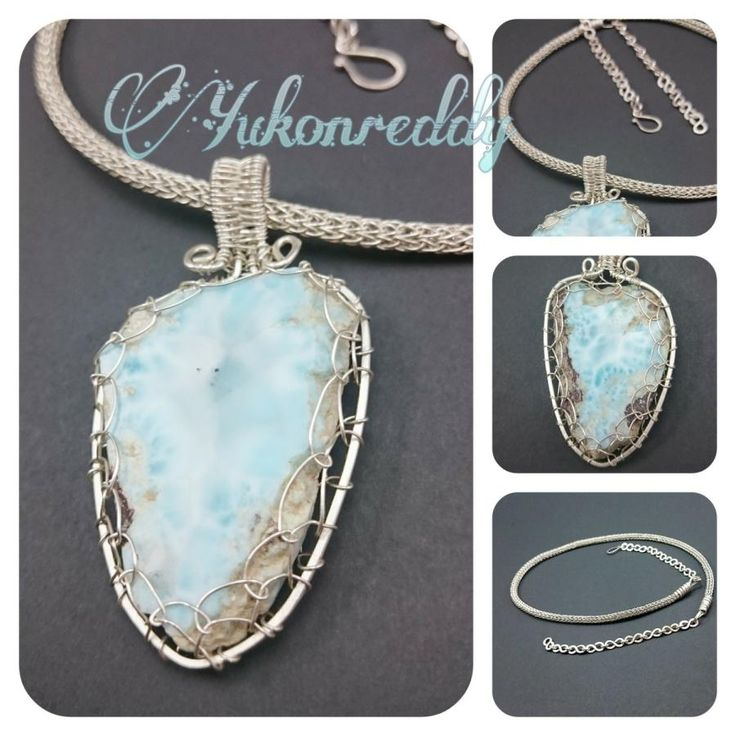 Reversible larimar necklace - Jewelry creation by Becca Ross