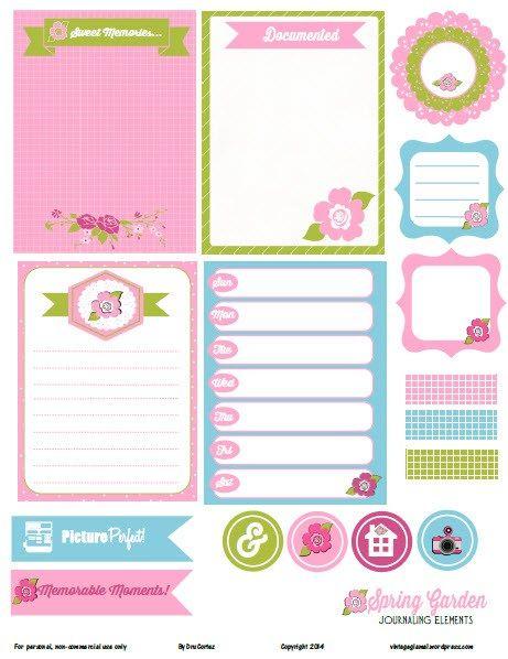 spring-garden-journaling-element