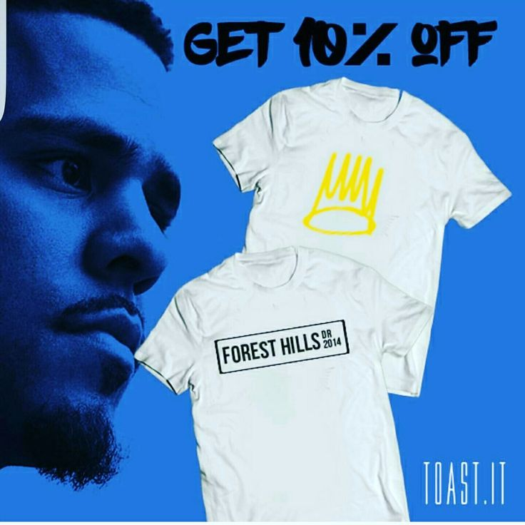 Get your personalised J Cole apparel, show us your ticket and get 10% off! #Sale #jcole #timeisnow #apparel #custommade #ticket
