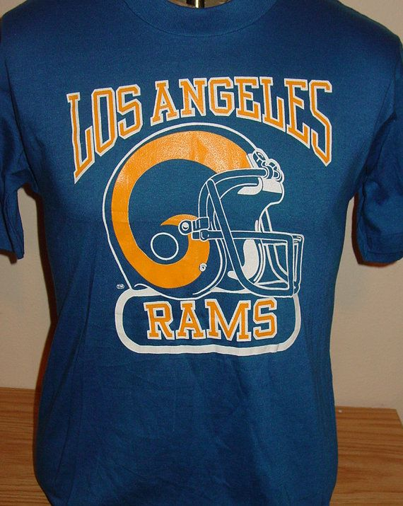 vintage 1980s Los Angeles Rams NFL football t by vintagerhino247