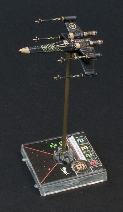 Star Wars X Wing Miniatures Game This guys skill at painting these small figures is second to ...