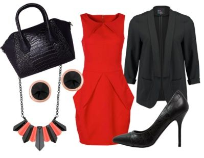 Lady in Red - Business Outfits - stylefruits.co.uk