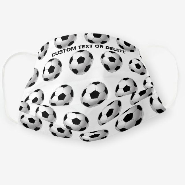 Soccer Ball Pattern Football Personalized Sports Cloth Face Mask Zazzle Com In 2020 Personalized Sports Soccer Ball Face Mask