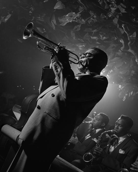 Dizzy gillespie royal roost nyc 1948 · dizzy gillespieblack white photographyjazz artistsjazz musiciansblues