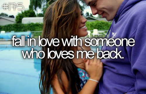 I will fall in love with someone who loves me back