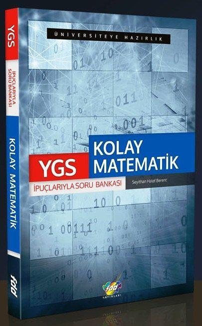 YGS - LYS KİTAPLARI YGS KOLAY MATEMATİK SORU BANKASI 21,20 TL