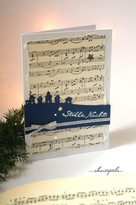 wunderschöne, anheimelnde Weihnachtskarte mit sleigh ride edgelits, Kling, Glöckchen Stempelset stampin up