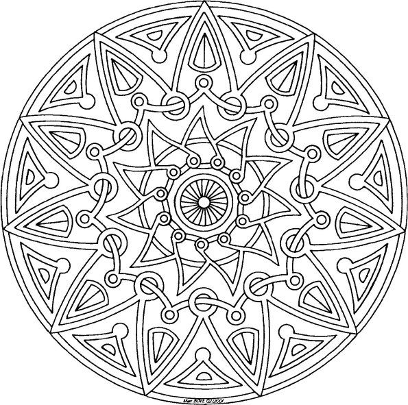 Mandala. Coloring pages for grownups