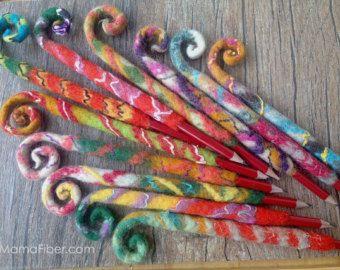 Satz von zehn Pcs gefilzt Bleistift/Kugelschreiber Kleid - gefilzte Bleistift Topper / Federmäppchen / Bleistift gemütlich / Bleistift Hülse