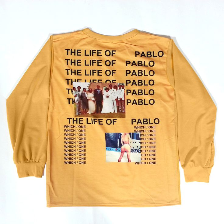 Fashion 2016 Autumn t shirt men Casual printed yeezus I FEEL LIKE KOBE PABLO kanye yellow. Click visit to buy #T-Shirts