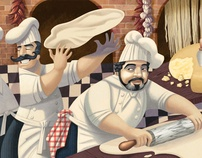 DA NICOLA murals 1 & 2 by David de Ramon, via Behance