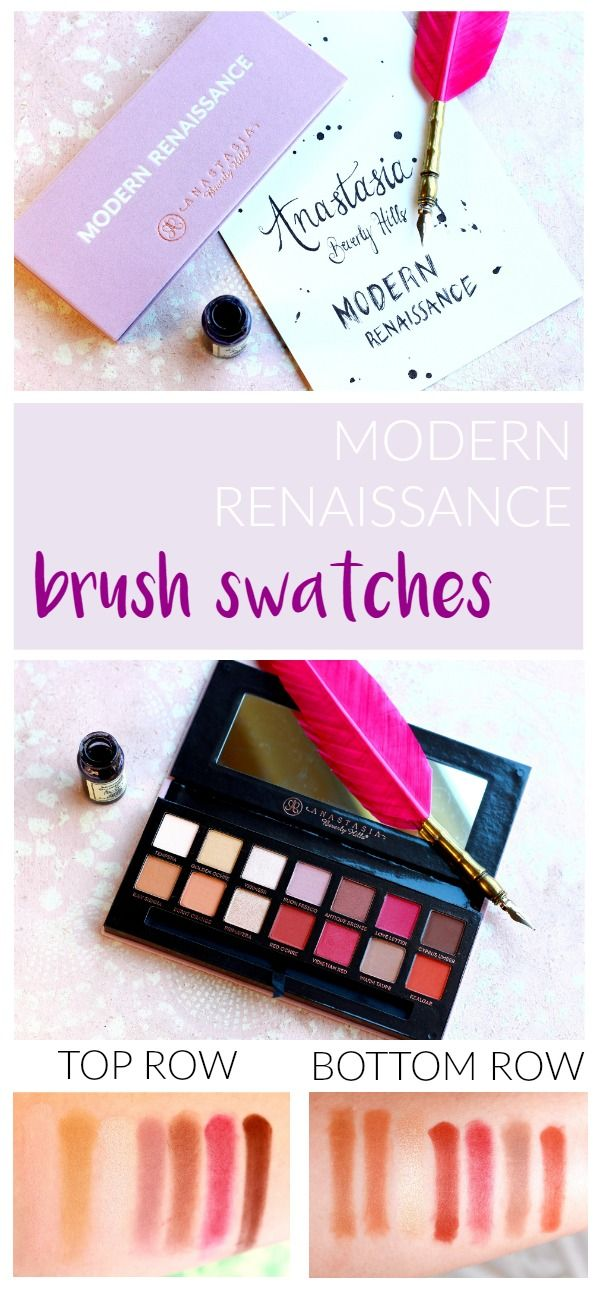 Absolutely love the Anastasia Beverly Hills Modern Renaissance Eye Shadow Palette. It is so versatile and the quality is pronominal! This review has full brush swatches so you can see the true color pay off!