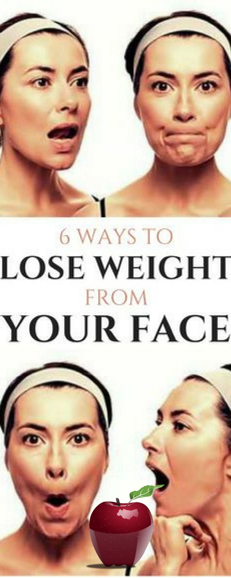 6 WAYS TO LOSE WEIGHT FROM YOUR FACE(REPIN IT)