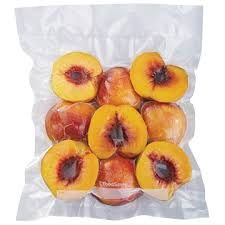 Peaches Sealed In A Vacuum Seal Bag