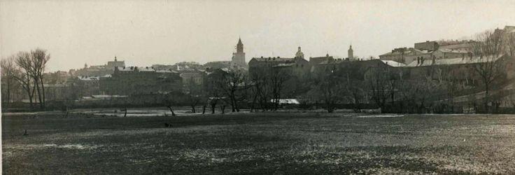 Ogólny widok miasta z nasypu ulicy Prusa w Lublinie, 1938