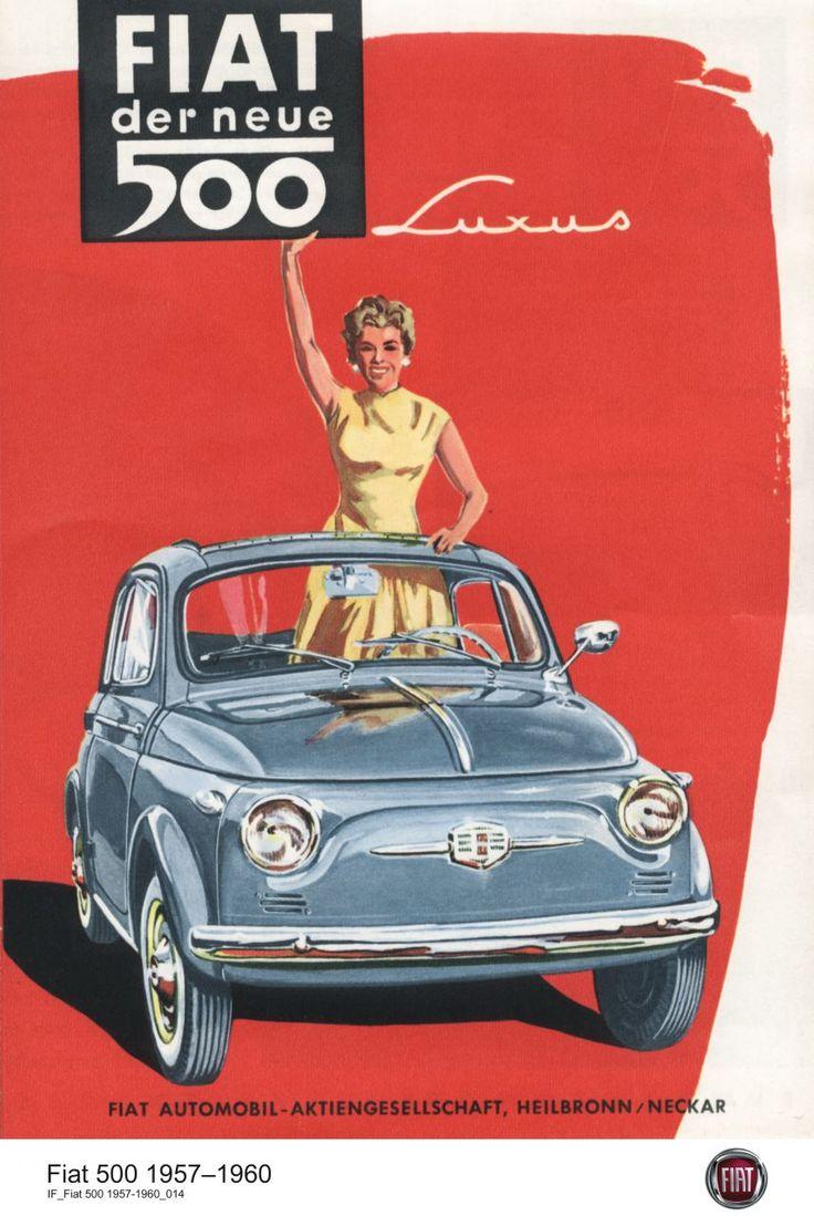 Fiat 500 #Fiat500 #Plakat #50er