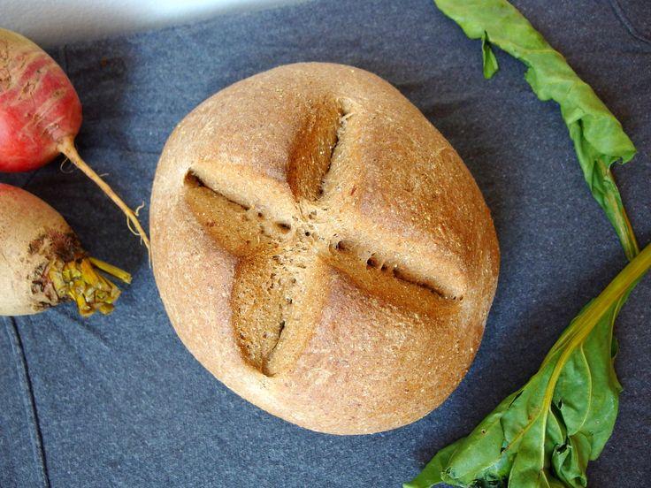 Vegan whole grain beet rye bread | Food | Pinterest