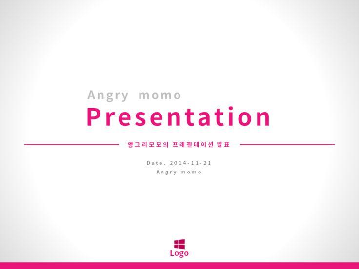 White+Pink 조합의 깔끔한 발표용 PPT 템플릿, 발표에 좋은 주목도 높은 피피티 디자인