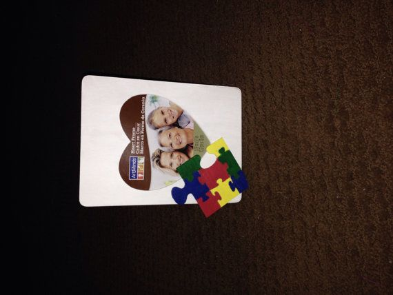 Autism awareness picture frame by WreathByWhit on Etsy, $10.00
