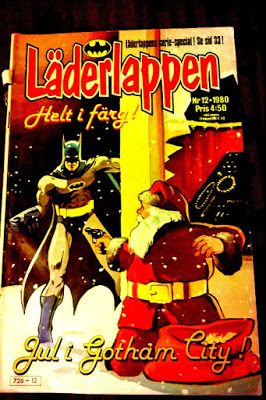 Kirjabloki : Tukholman reissulla sarjakuvia: Läderlappen, Lepakkomies, Batman, Jokeri, Jokern, Joker, Dracula, Fantomen, Mustanaamio, ja Spökplumpen eli ihana Mustakaapu