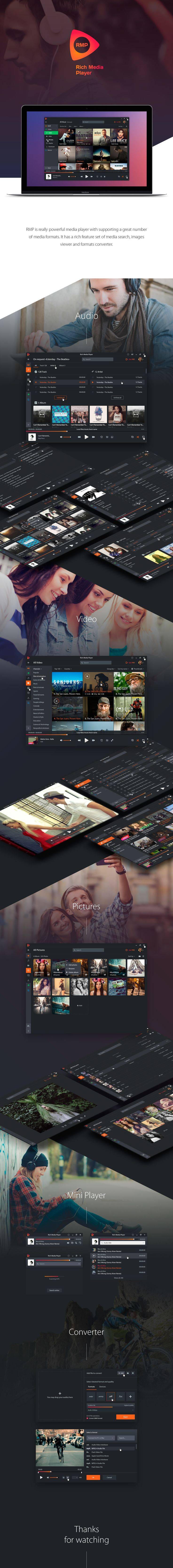 #Rich #Media #Player on #Behance #web #design