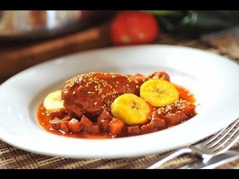 Pollo en Manchamanteles - Recetas de cocina mexicana - Chicken with frui... cocina al natural