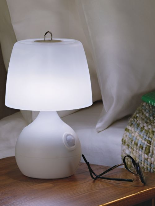 Bedside Motion Sensor Lamp - Battery powered LEDs light your way when you get up at night | Solutions