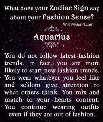 What does your Zodiac Sign say about your Fashion Sense? - Aquarius