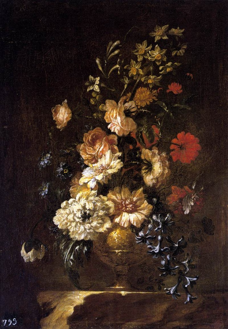 a painting of a collection of flowers