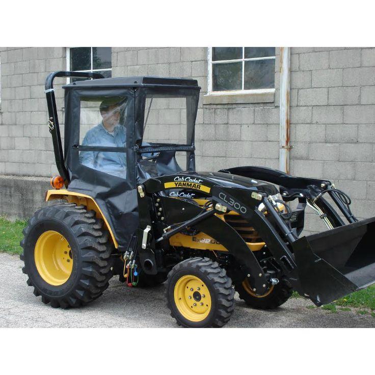 Hardtop Tractor Cab with Hinged Doors for Cub Cadet / Yanmar Tractors: yanmar, SC2400, EX2900, EX3200, 3000 Series GT, GT2000, CT2100, GTX2154LE, GTX2000, GTX2100,