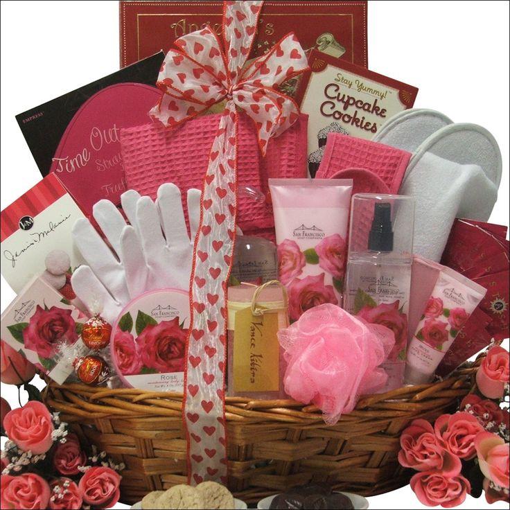 Rose Spa Haven: Valentine's Day Bath & Body Spa Gift Basket