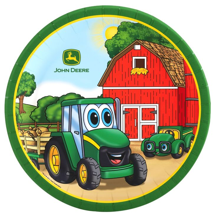Johnny Tractor Birthday Party Plates
