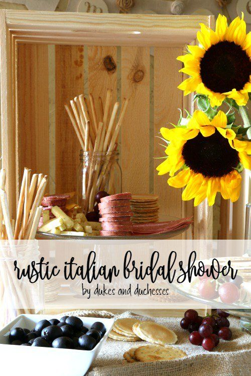 rustic italian bridal shower