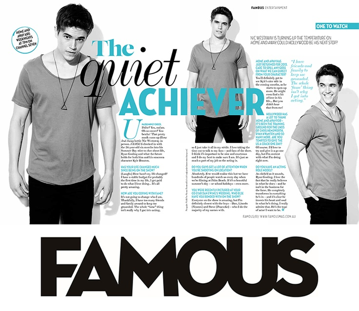 FAMOUS chats exclusively to Home  Away hottie Nic Westaway