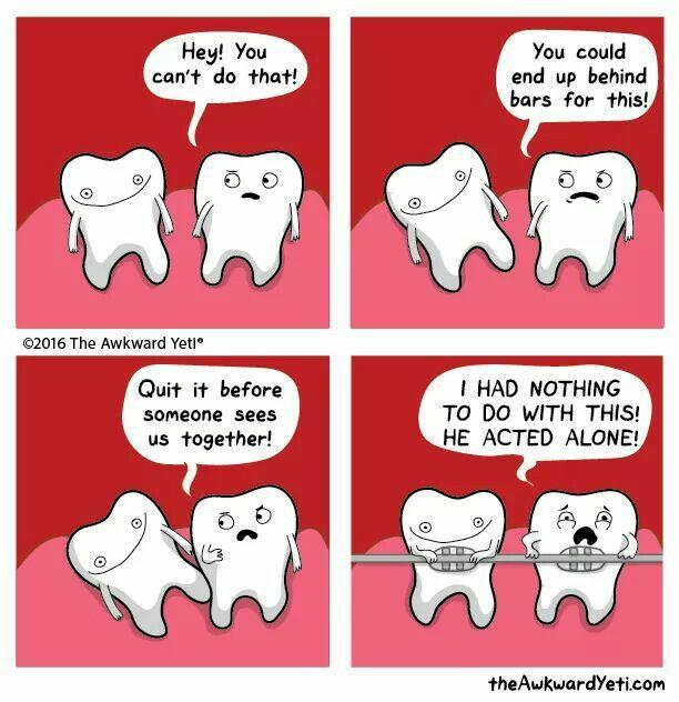 I feel like my teeth had this discussion   Awkward yeti ...