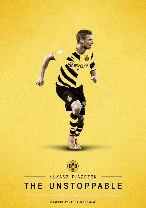 Łukasz Piszczek - Borussia Dortmund BVB graphic by: Jacek Jaśkowiak www.facebook.com/jaskowiak.artde