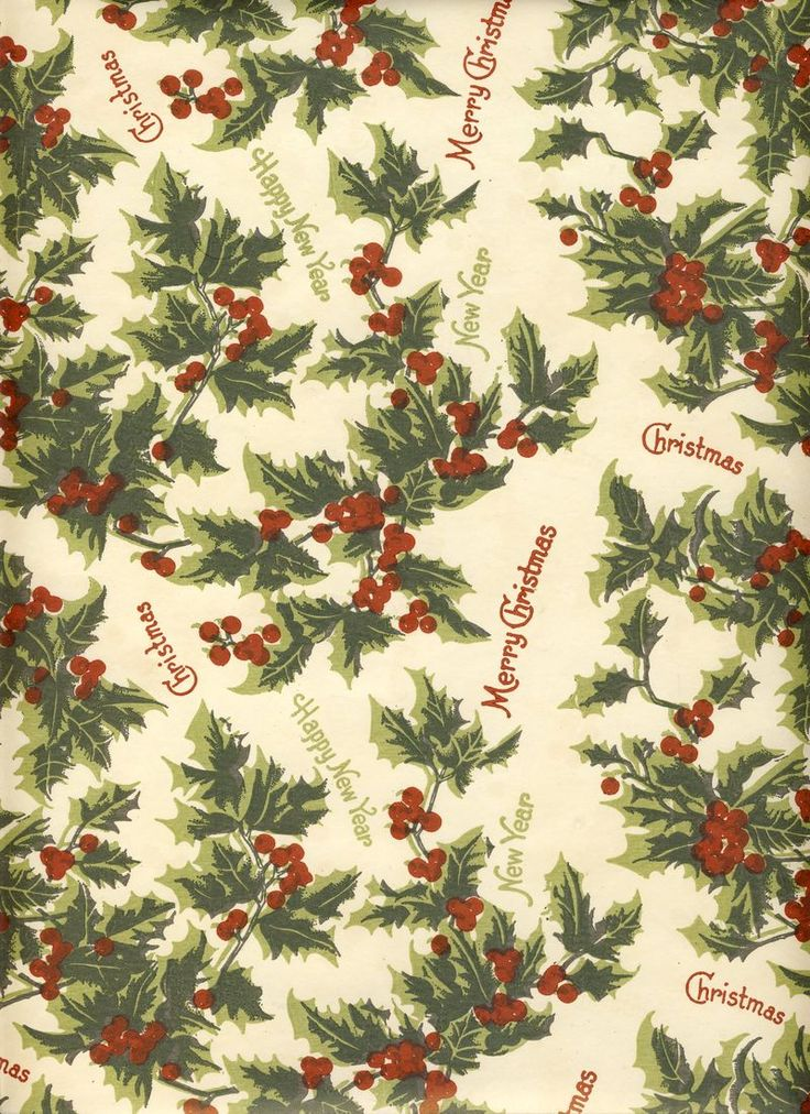 holly Christmas pattern:
