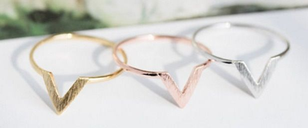 Shop our most minimalistic arrow ring set:-one size fits most-High Quality -Set includes 3 arrow rings-Rose Gold, Gold, and Silver