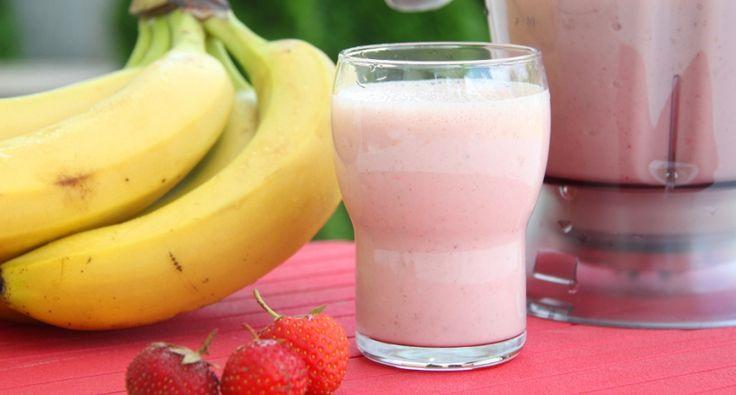 Rostos eper-banán smoothie recept
